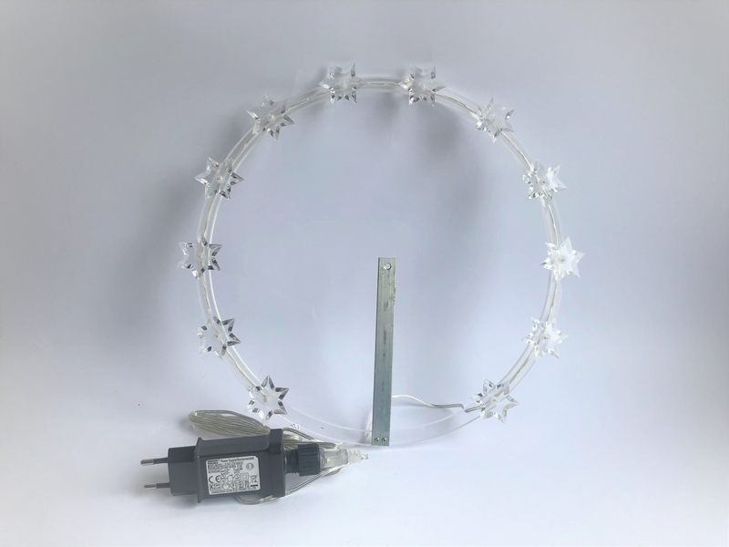 Corona stellario luminoso a led Ø  cm.20