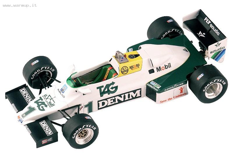 Williams FW08C Donnington 19 July 1983 Private Test A. Senna 1/43 Tameo Kit