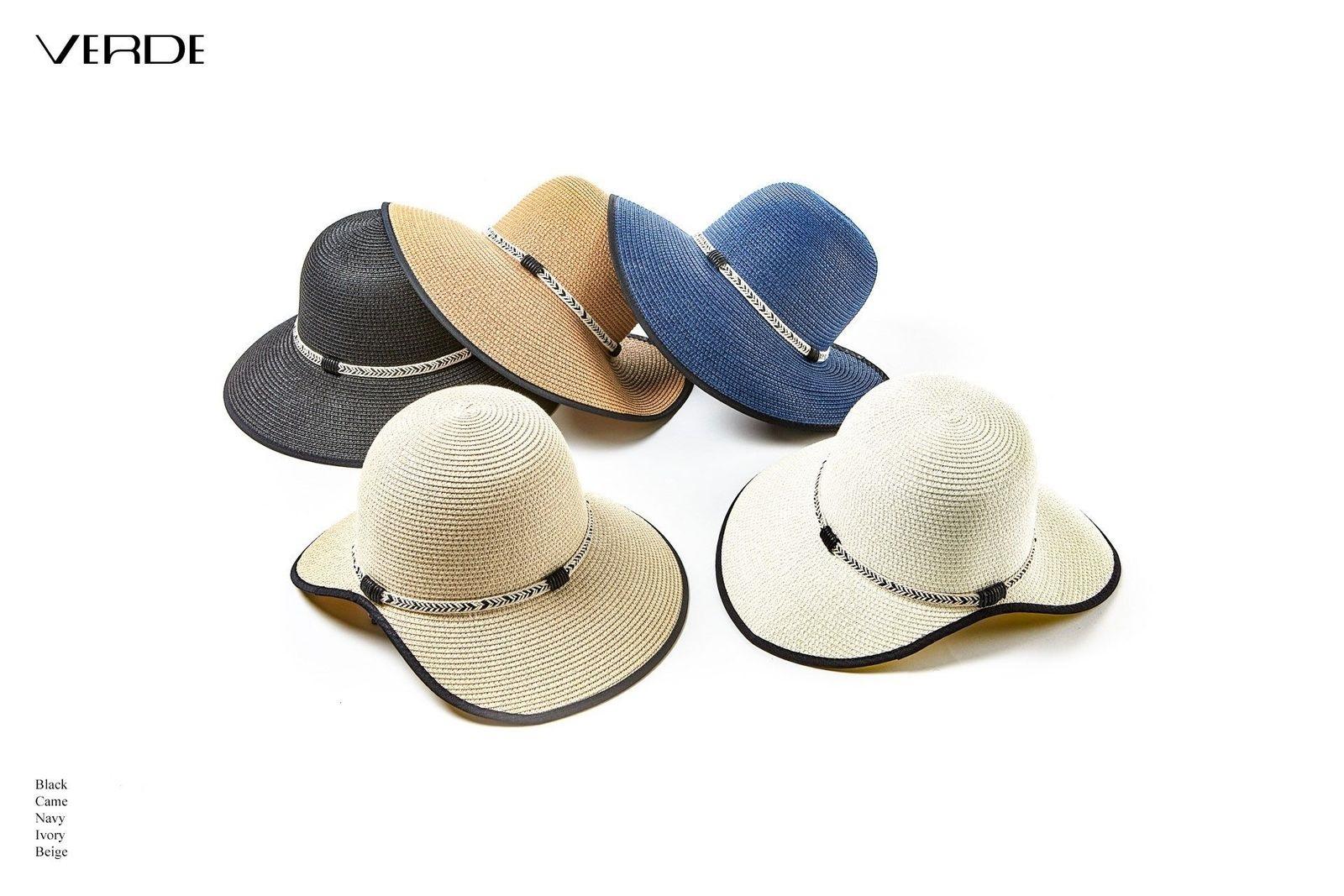 Sun hat with asymmetrical brim