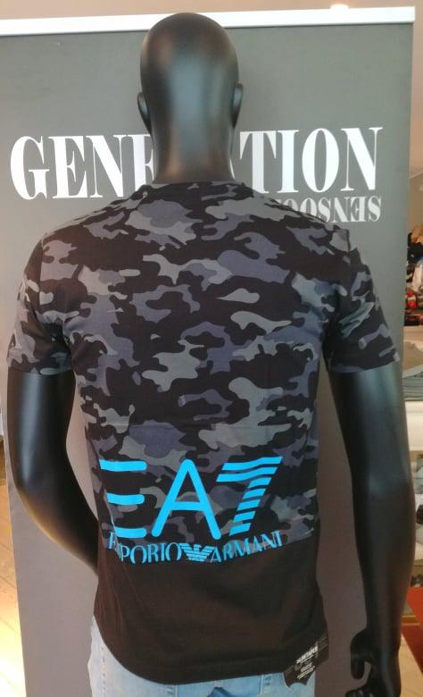 T-shirt uomo ARMANI EA7 mimetica