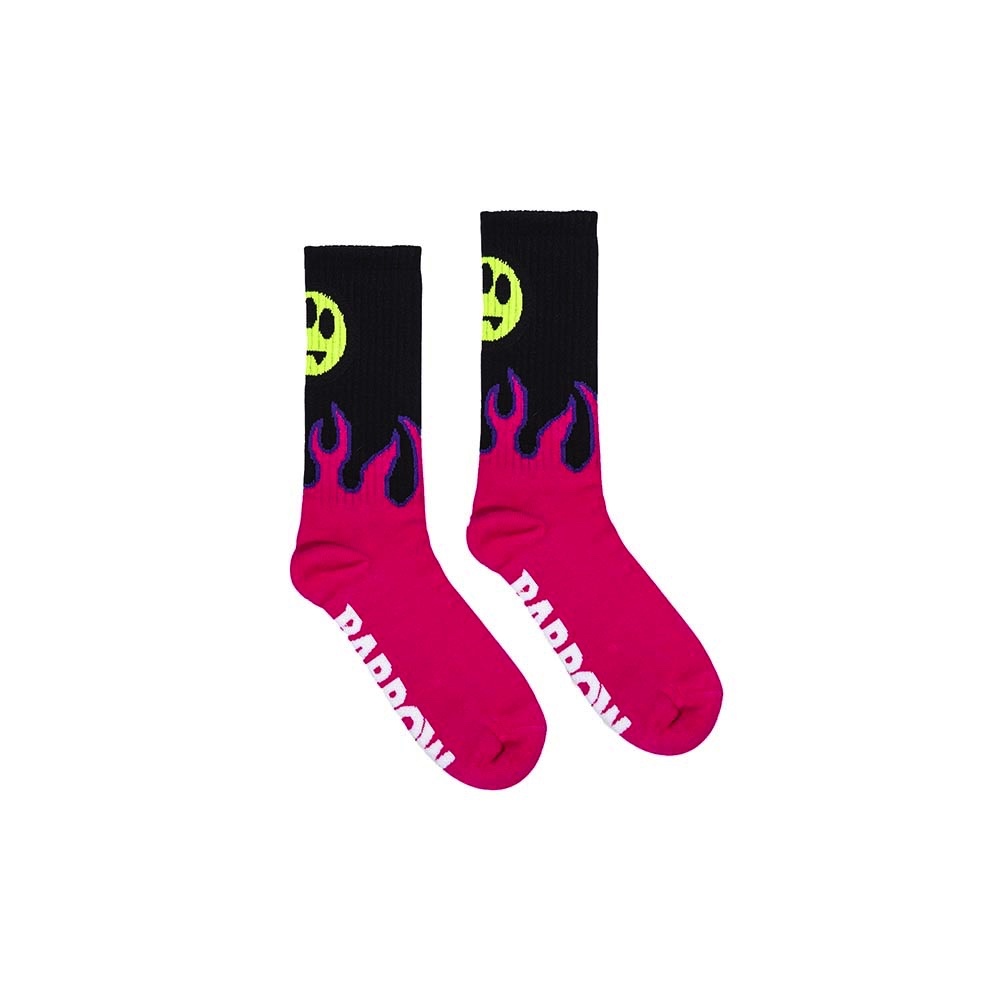 BARROW Socks Flame Black Fucsia