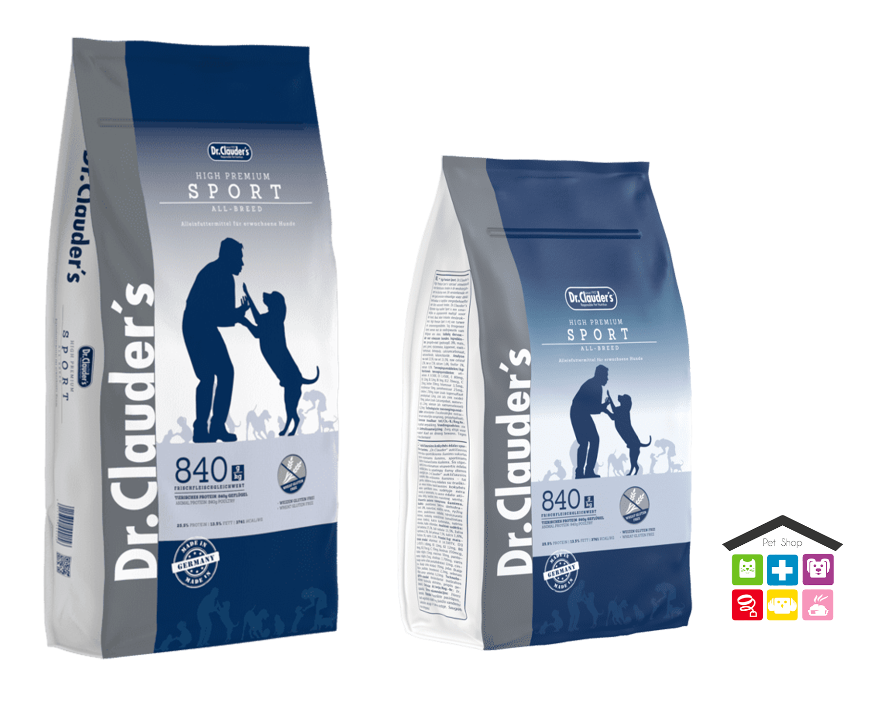 Dr. Clauder's | Secco Cane - Linea High Premium | Active Zucht & Sport (Pollo)/ Sacco 15Kg