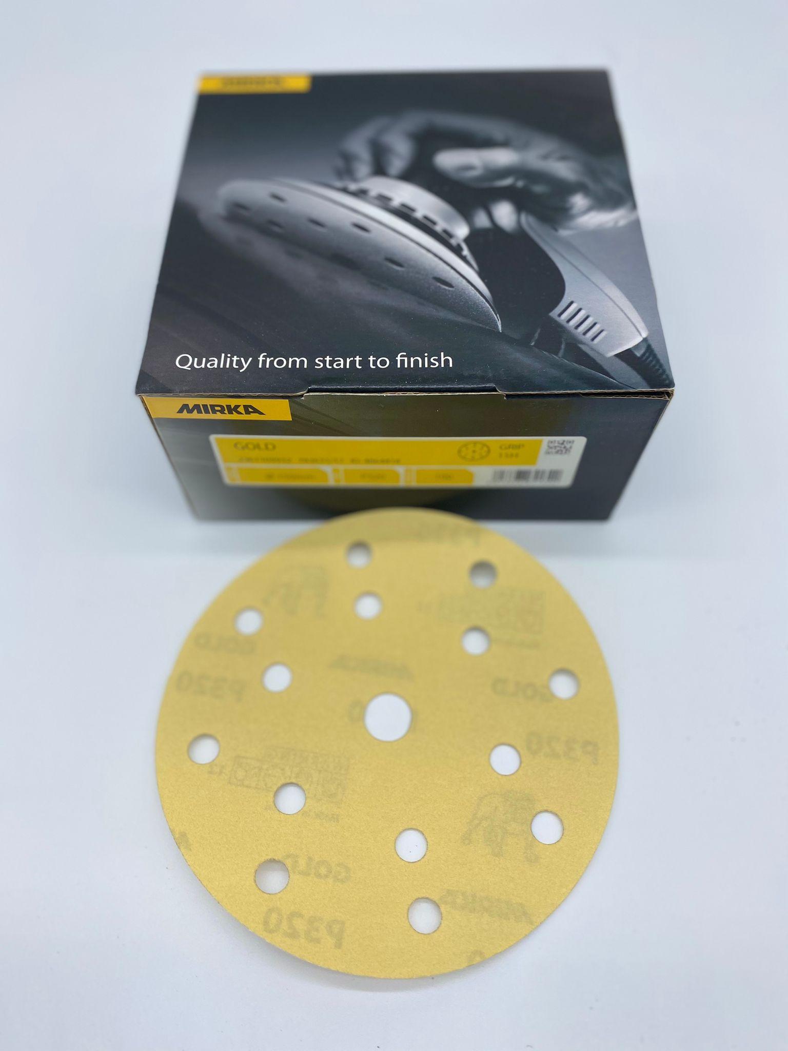 CONF.DISCO VELCRO GOLD 15 FORI GR 40/60/ DIAM 150 PZ 50 - MIRKA