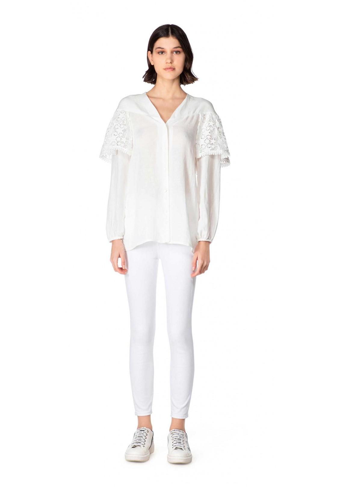 Blusa bianca gaelle paris