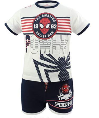 Completo Spiderman Misura da 3 a 8 Anni Estate 2021