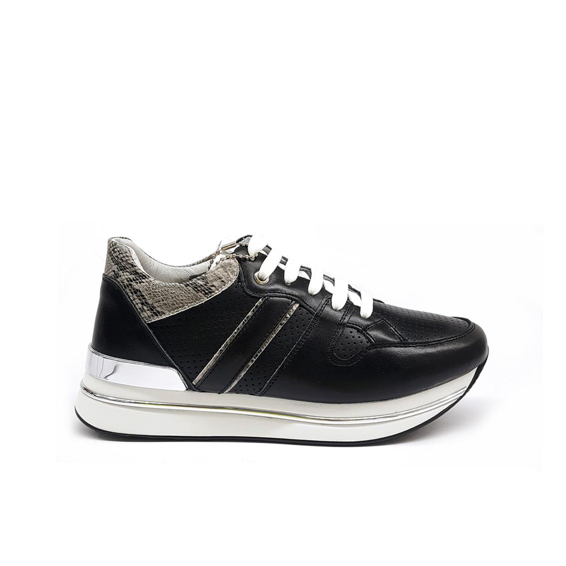 Sneaker platform nera Keys