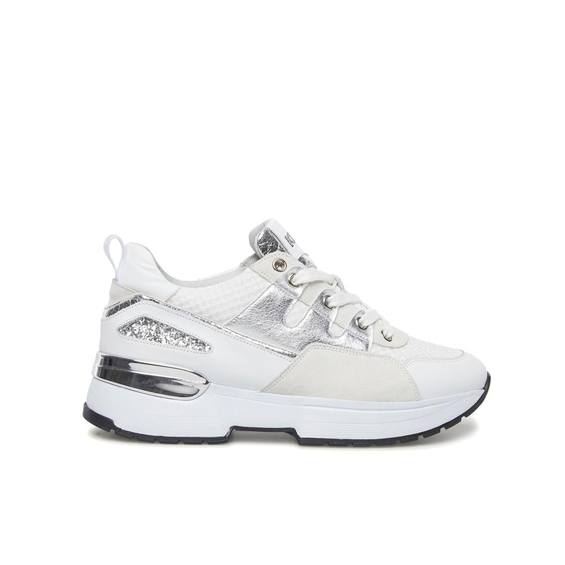 Chunky sneaker bianca/argento Keys