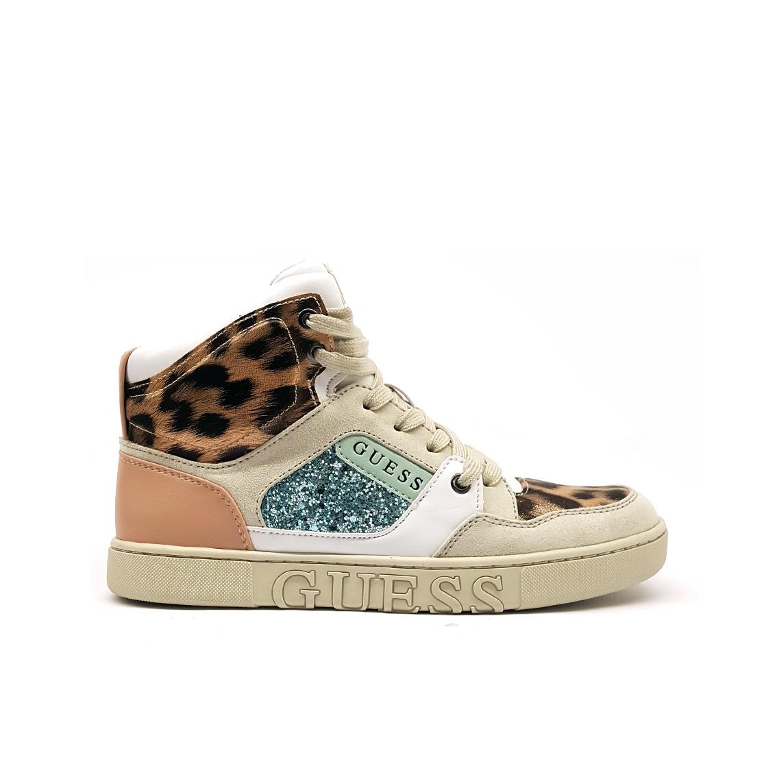 Sneaker alta animalier/multicolor Guess