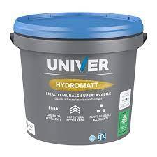 HYDRO MATT SMALTO MURALE SUPERLAVABILE BIANCO LT 1 PPG/UNIVER