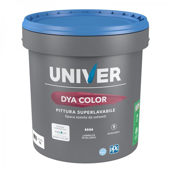 DYA COLOR PITTURA SUPER LAVABILE ECO LT 0,750 BIANCO PPG/UNIVER