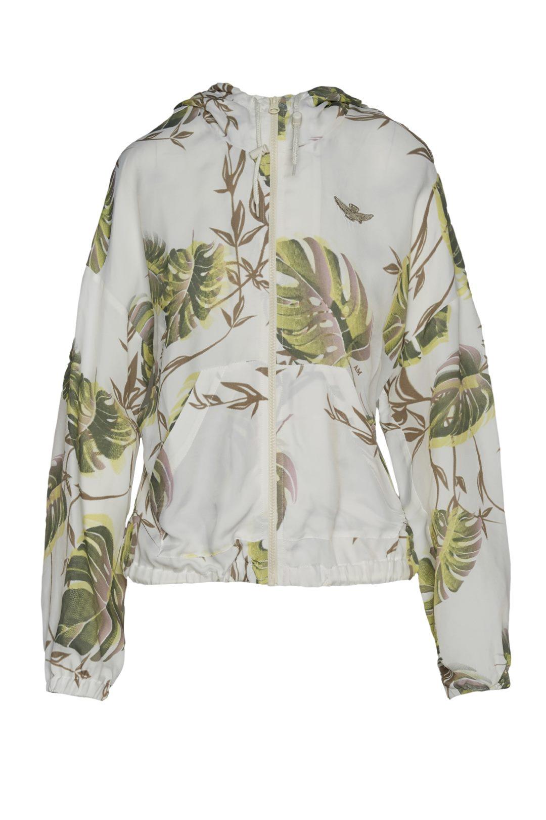 Veste avec motif de feuilles 1