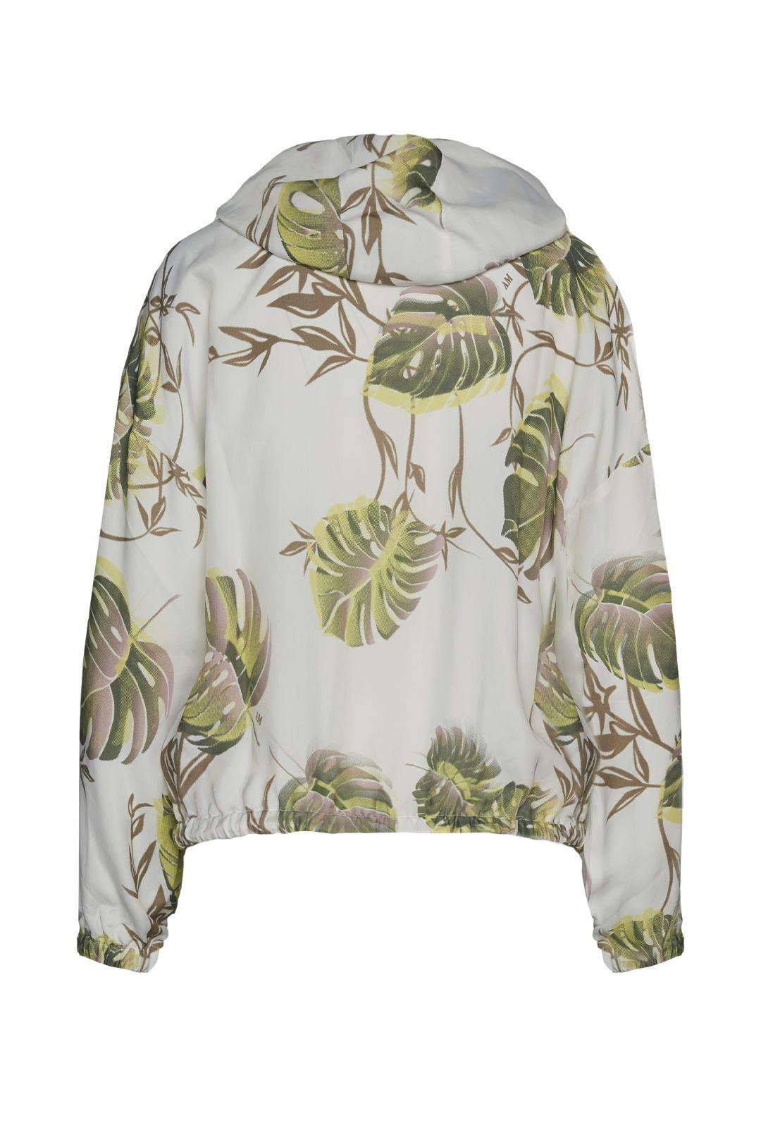 Jacke mit tropischen Blätter-Motiv 2