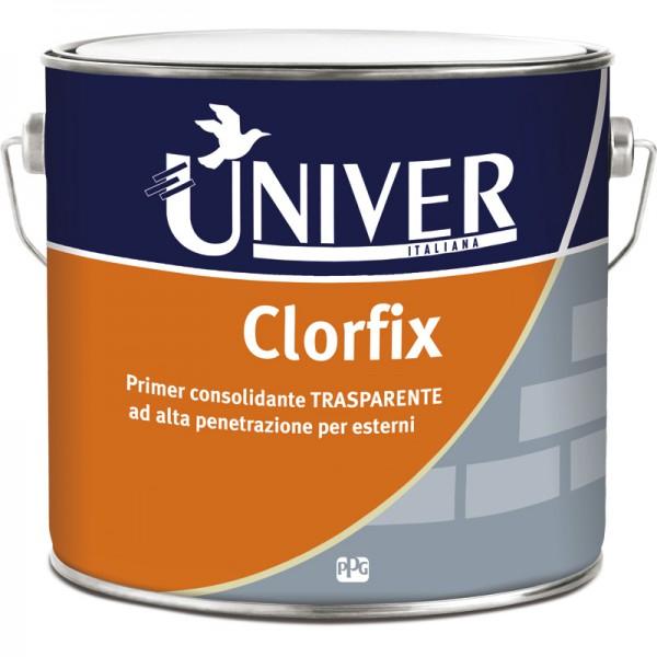 CLORFIX PRIMER CONSOLIDANTE TRASPARENTE AD ALTA PENETRAZIONE PER ESTERNI LT 2.5 - UNIVER