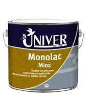 MONOLAC MIOX  SMALTO FERROMICACEO MONOCOMPONENTE PER APPLICAZIONE DIRETTA SU ACCIAIO ZINCATO/LEGHE/PVC GRIGIO CHIARO LT 0,750 PPG/UNIVER