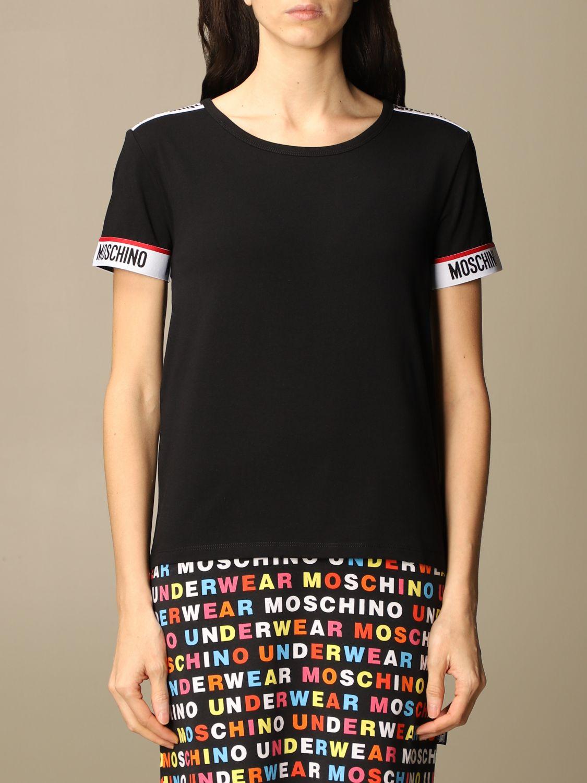 T-shirt nera moschino underwear