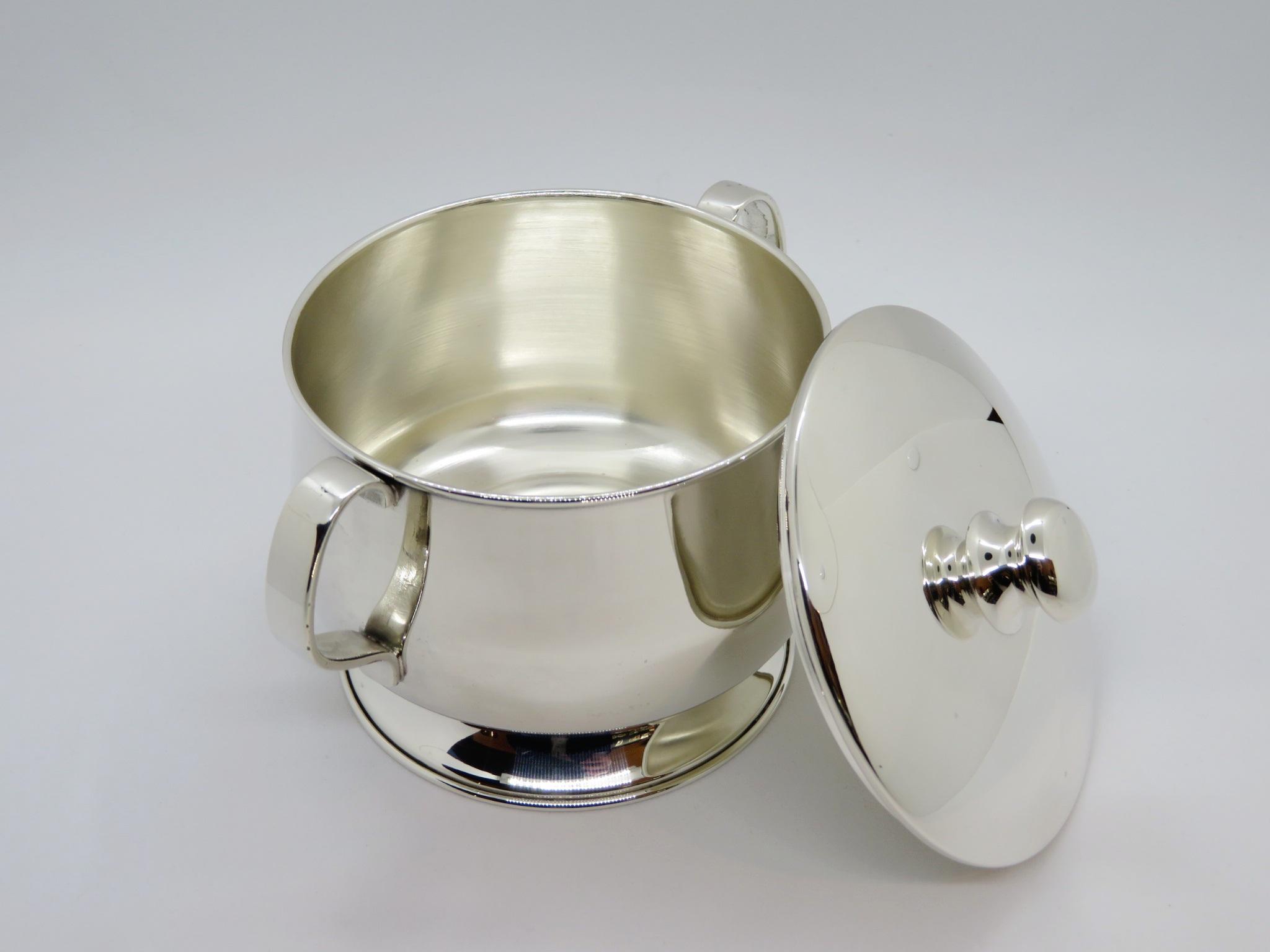 Zuccheriera in Argento 800, stile Inglese con lavorazione a mano
