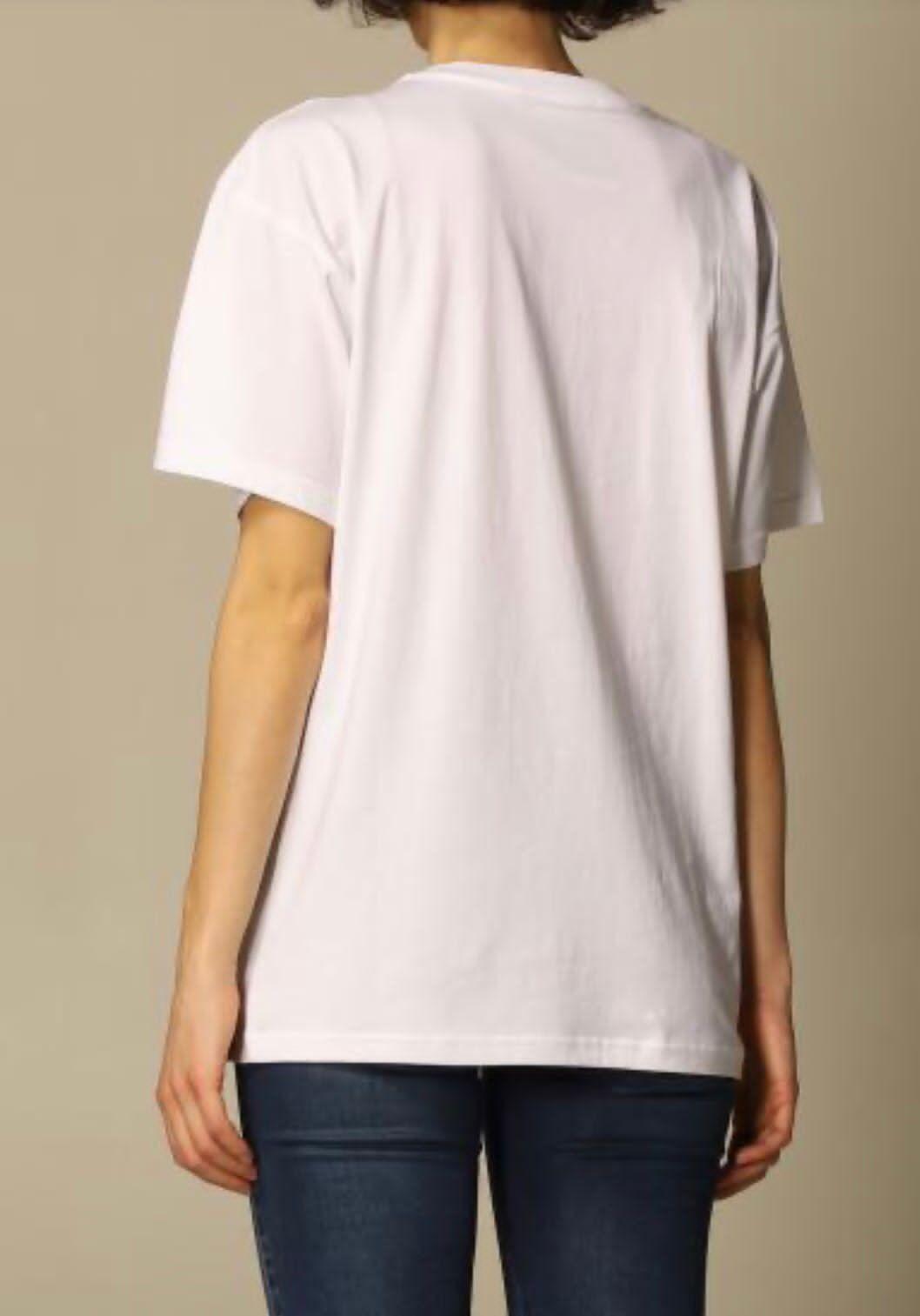 T-shirt bianca Moschino couture