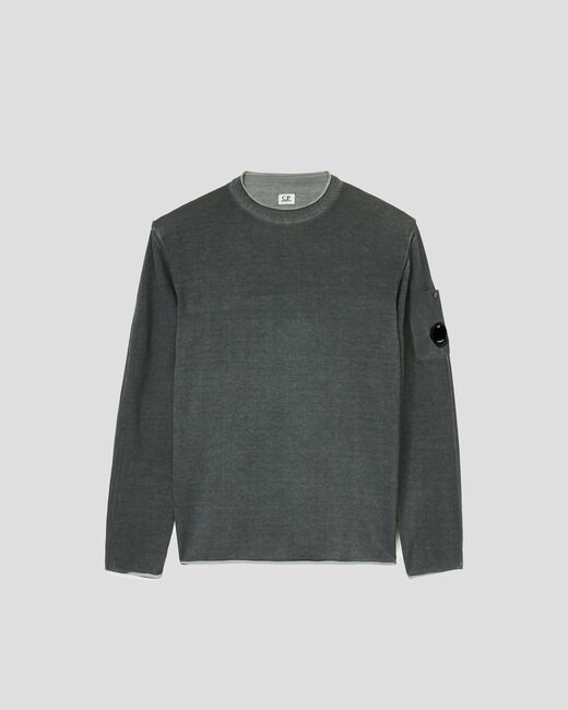 SHOPPING ON LINE C.P. COMPANY COTTON CREPE GARMENT DYED CREW NECK SWEATER NEW COLLECTION SPRING/SUMMER 2021