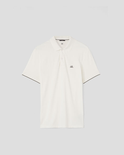 SHOPPING ON LINE C.P. COMPANY TACTING PIQUET GARMENT DYED CHEST LOGO POLO SHIRT NEW COLLECTION SPRING/SUMMER 2021