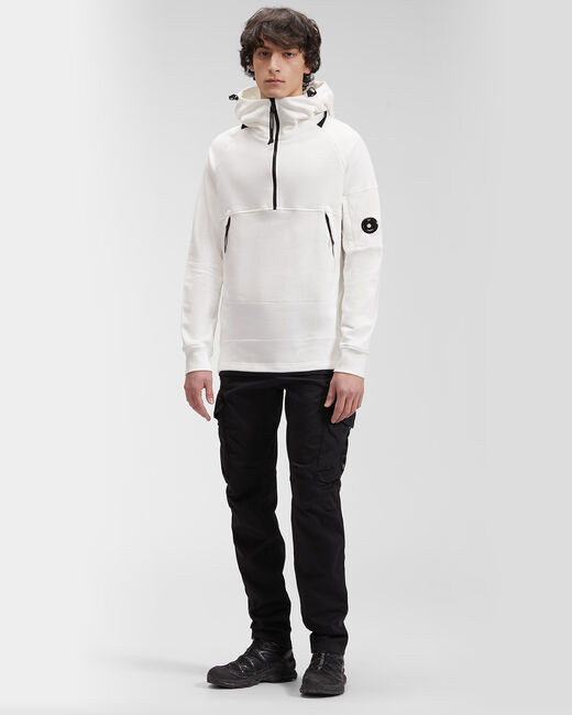 SHOPPING ON LINE C.P. COMPANY DIAGONAL RAISED FLEECE QUARTER ZIP HOODIE NEW COLLECTION SPRING/SUMMER 2021