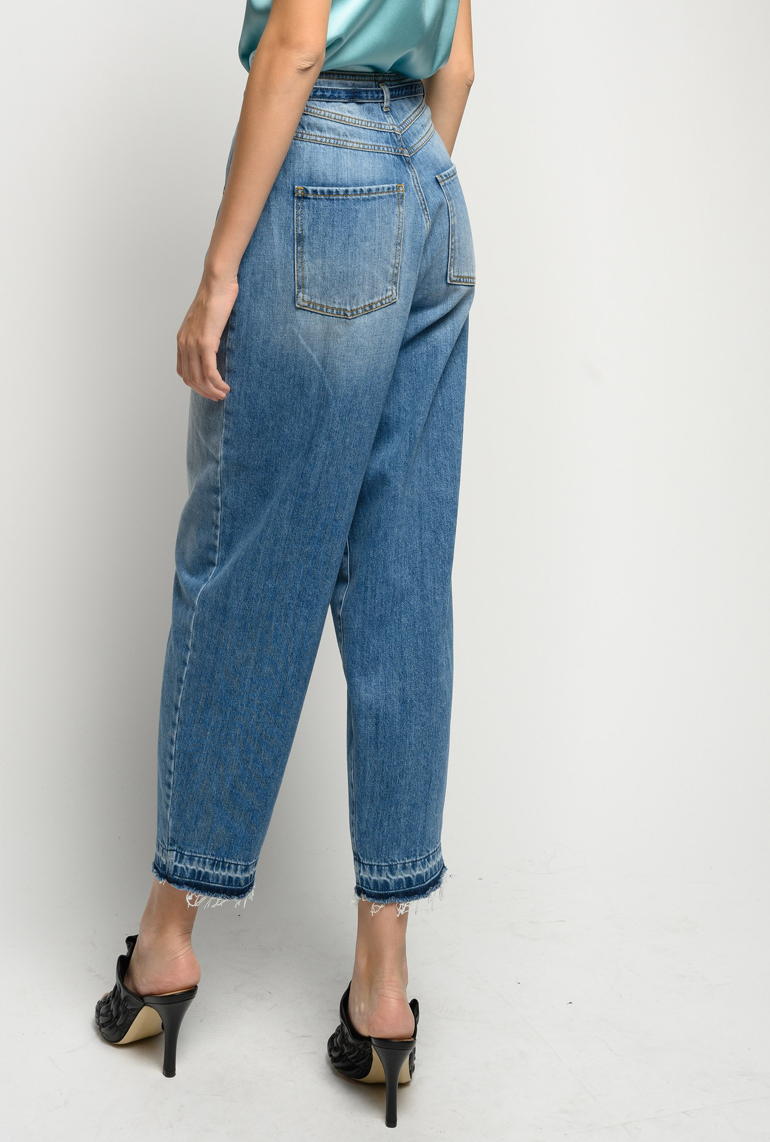 Jeans Ester cinque tasche slouchy-fit Pinko.