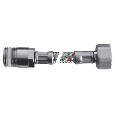 FLESSIBILE FLEXCORE MF PROLUNGATO PARIGI INOX 304/PE-RT + GUARNIZIONE 1/2MF CM 25