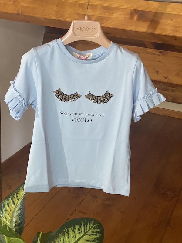 Tshirt Bambina Vicolo Girl Motivo Ciglia
