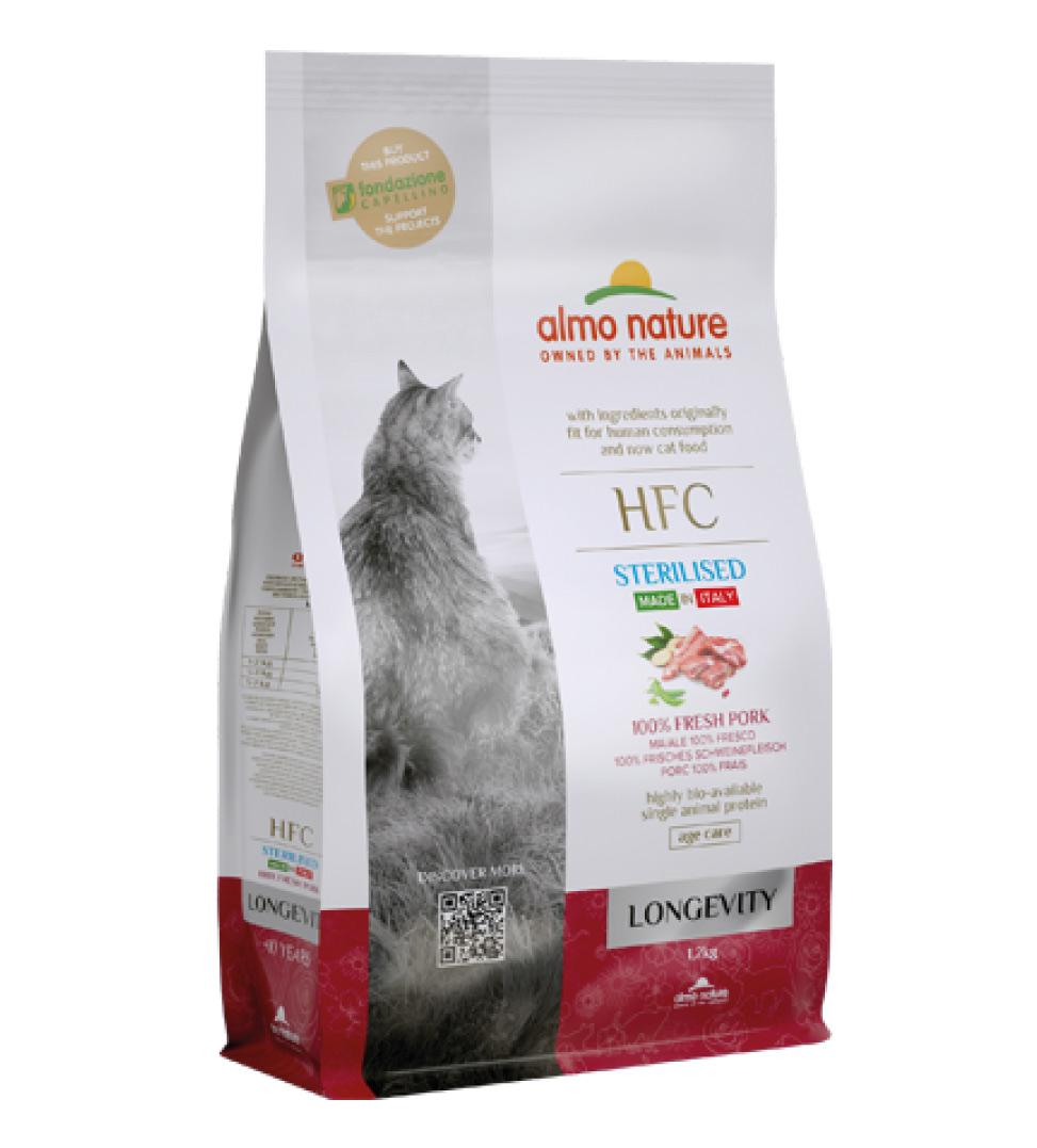 Almo Nature - HFC Cat - Longevity - Sterilised - Maiale - 1.2 kg