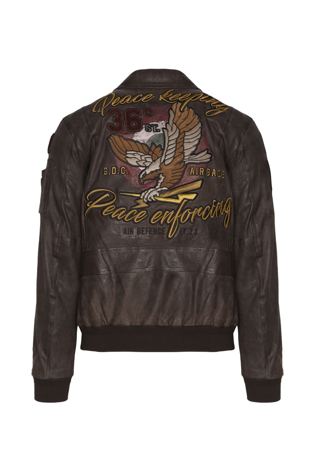 Printed Leather Jacket                        2
