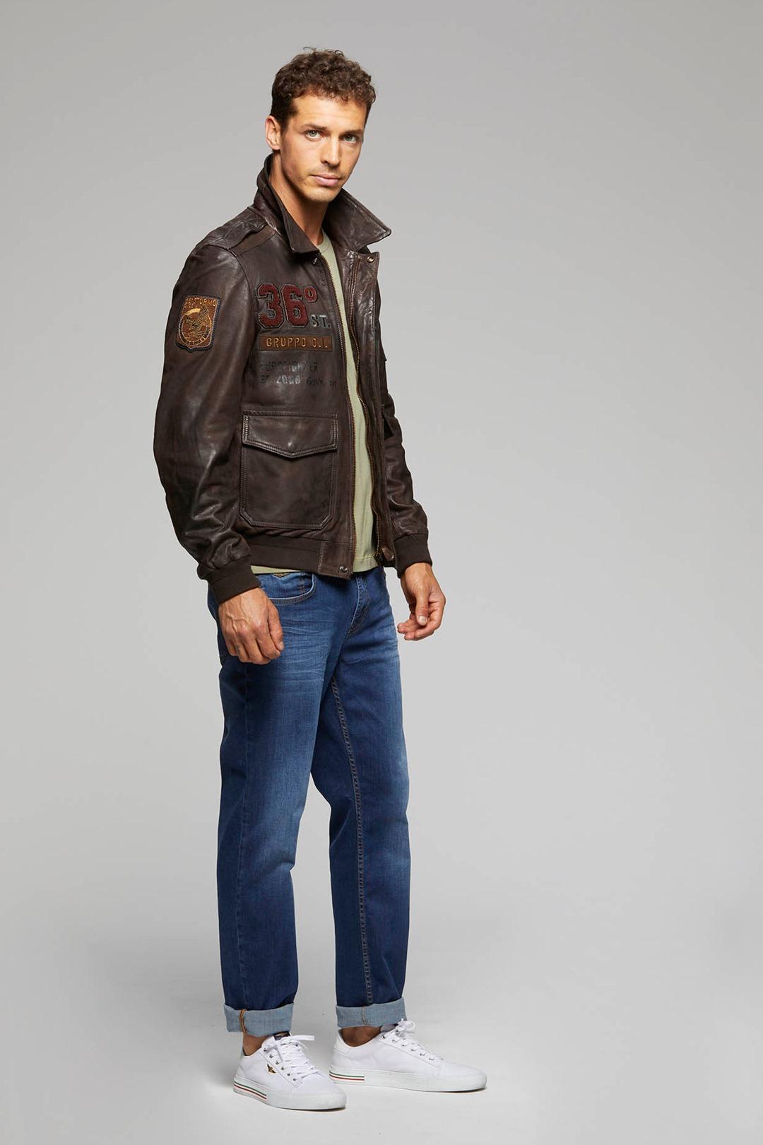 Printed Leather Jacket                        4