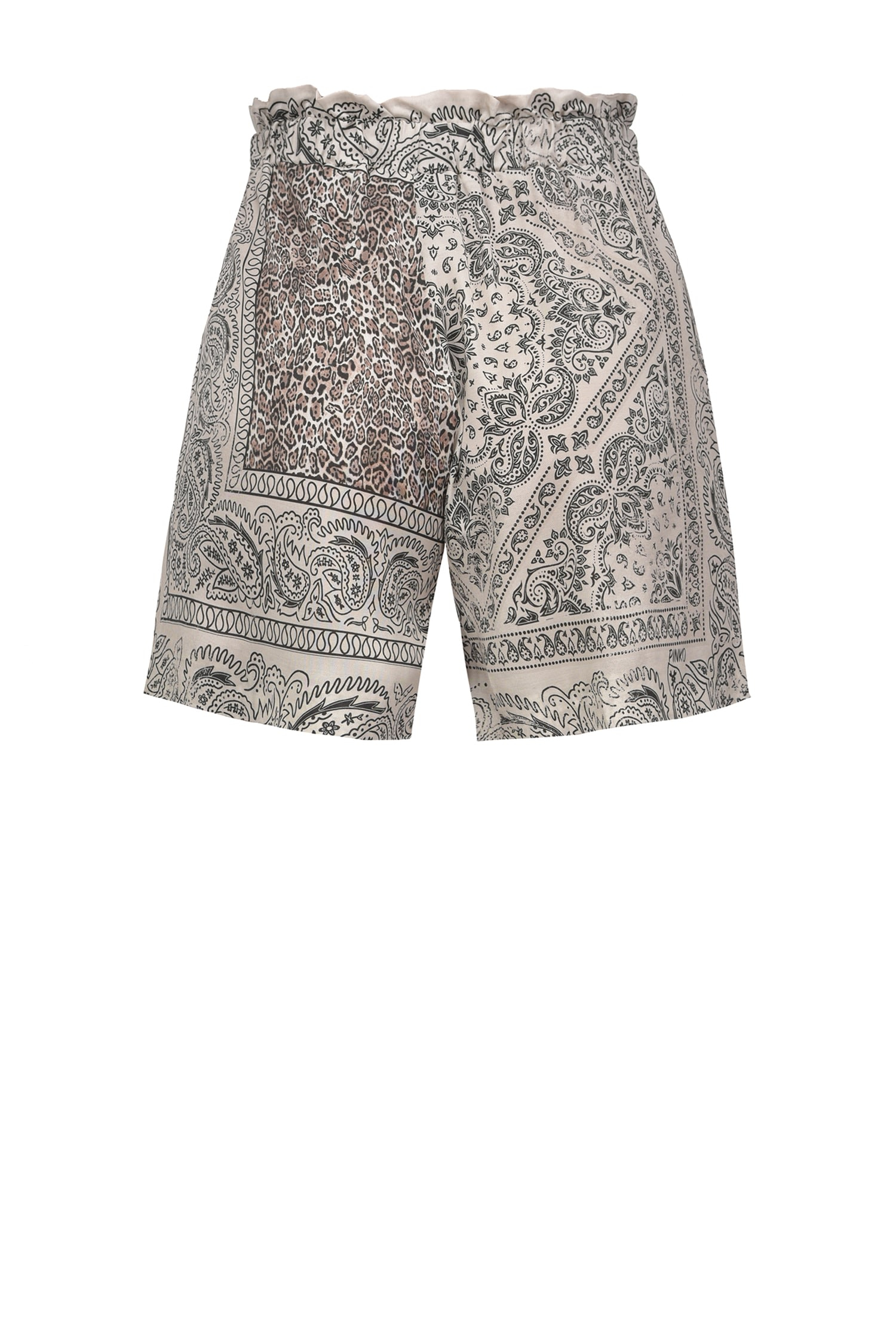 SHOPPING ON LINE PINKO SHORTS A STAMPA FANTASIA BANDANA CONTROMANO NEW COLLECTION WOMEN'S SPRING SUMMER 2021