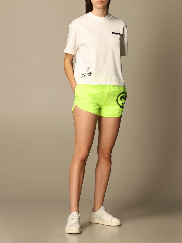 T-shirt bianca con logo barrow