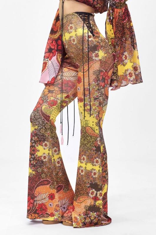 Pantalone a zampa Summer of Love Effek
