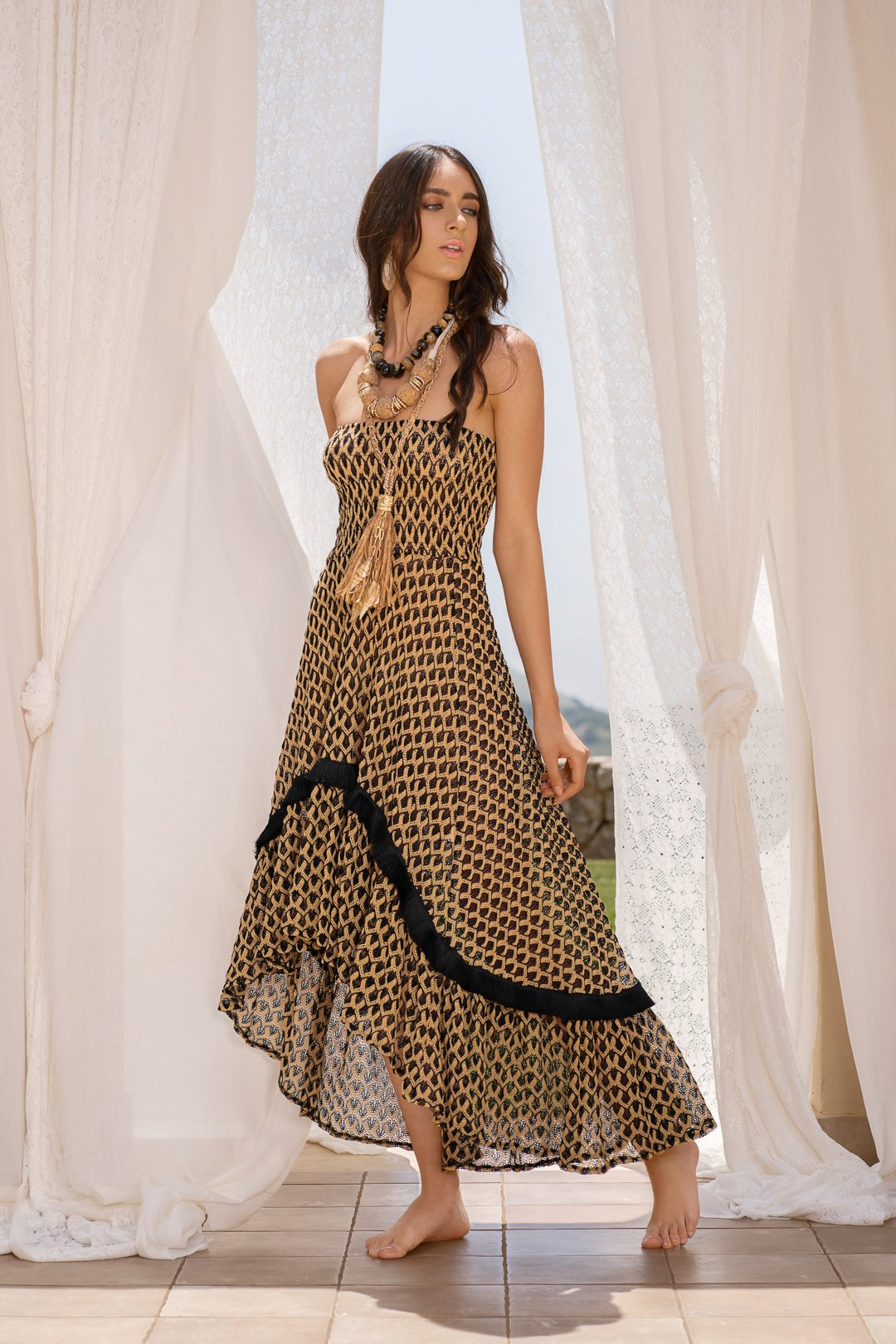 SHOPPING ON LINE PHO FIRENZE ABITO / GONNA LUNGA IN TESSUTO RACHEL NEW COLLECTION WOMEN'S SPRING SUMMER 2021