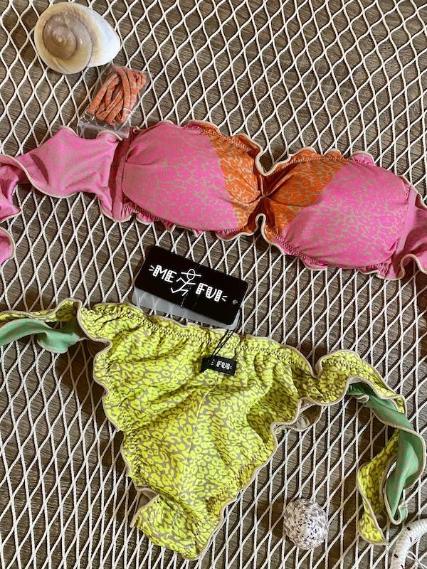 Bikini fascia Frou Frou e slip nodi regolabile Hot Tropics Me Fui Taglia LG