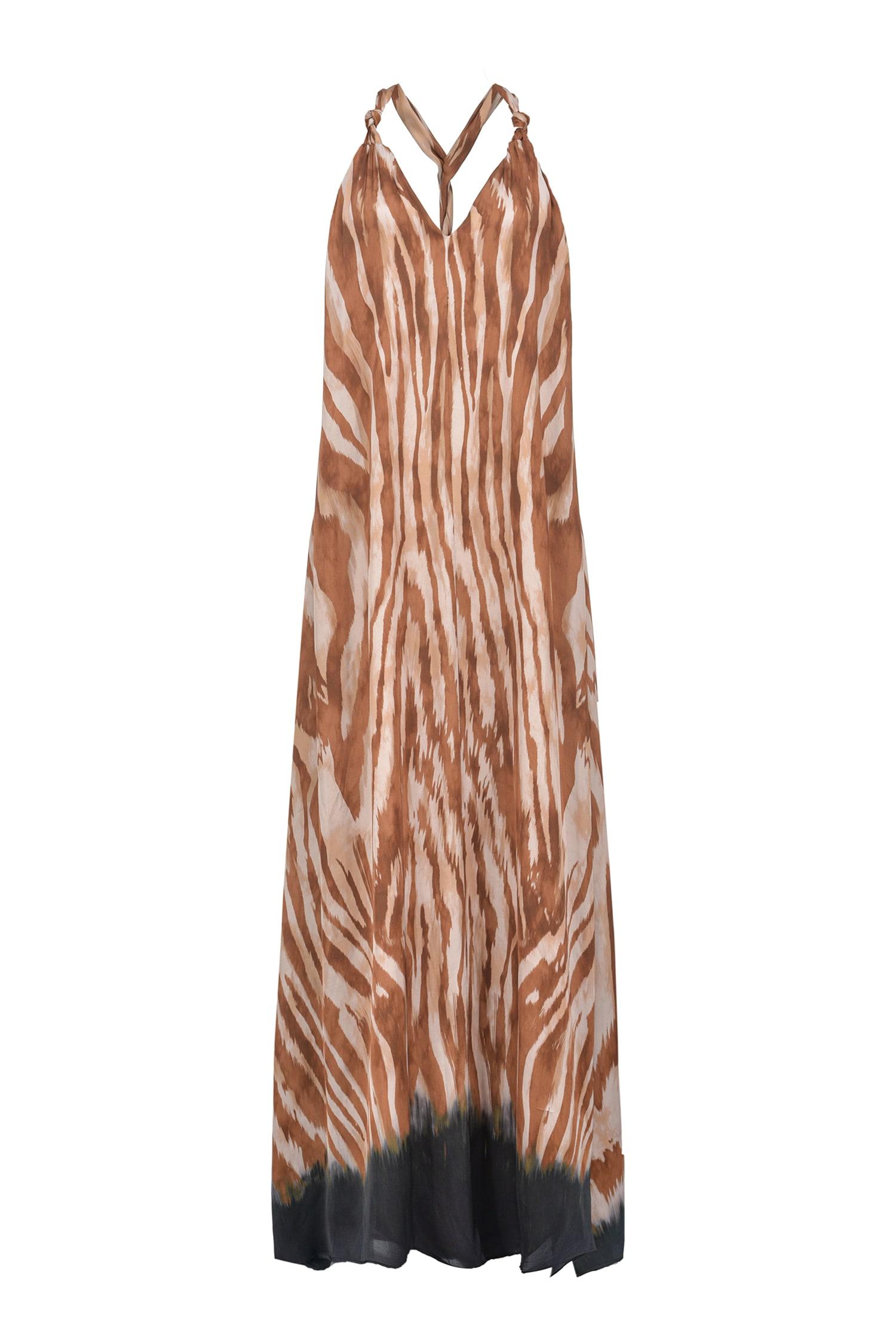 Abito Parlami maxi stampa zebra Pinko