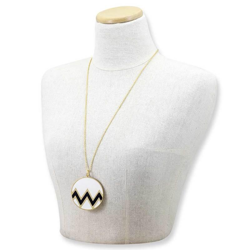 Collana lunga con pendente bianco Francesca Bianchi Design