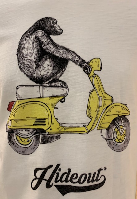SHOPPING ON LINE HIDEOUT T-SHIRT YELLOW MONKEY NEW COLLECTION SPRING/SUMMER 2021