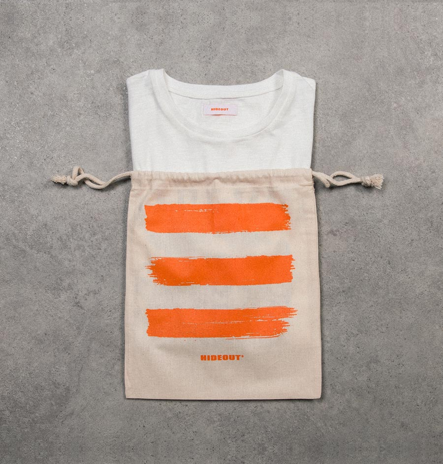 SHOPPING ON LINE HIDEOUT T-SHIRT RED CAMPBELL NEW COLLECTION SPRING/SUMMER 2021