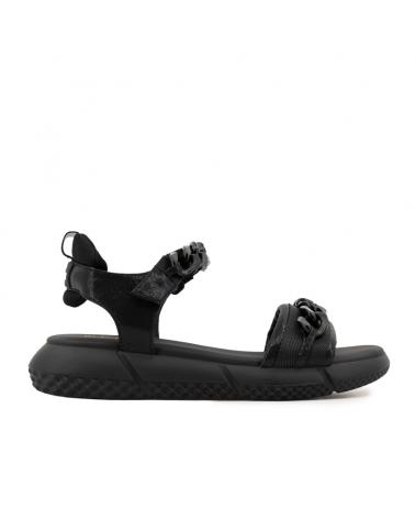 Sandalo nero con catene Elena Iachi