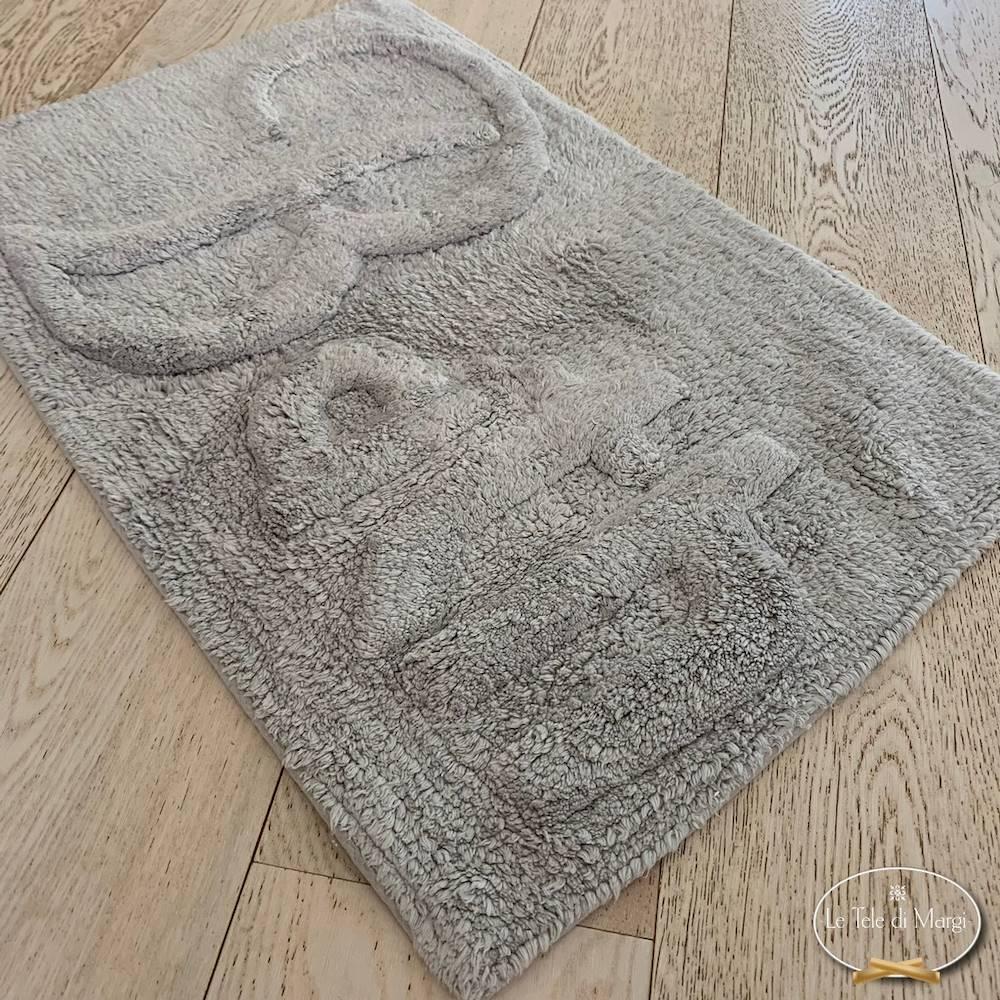 Tappeto Bath grigio chiaro 50 X 80