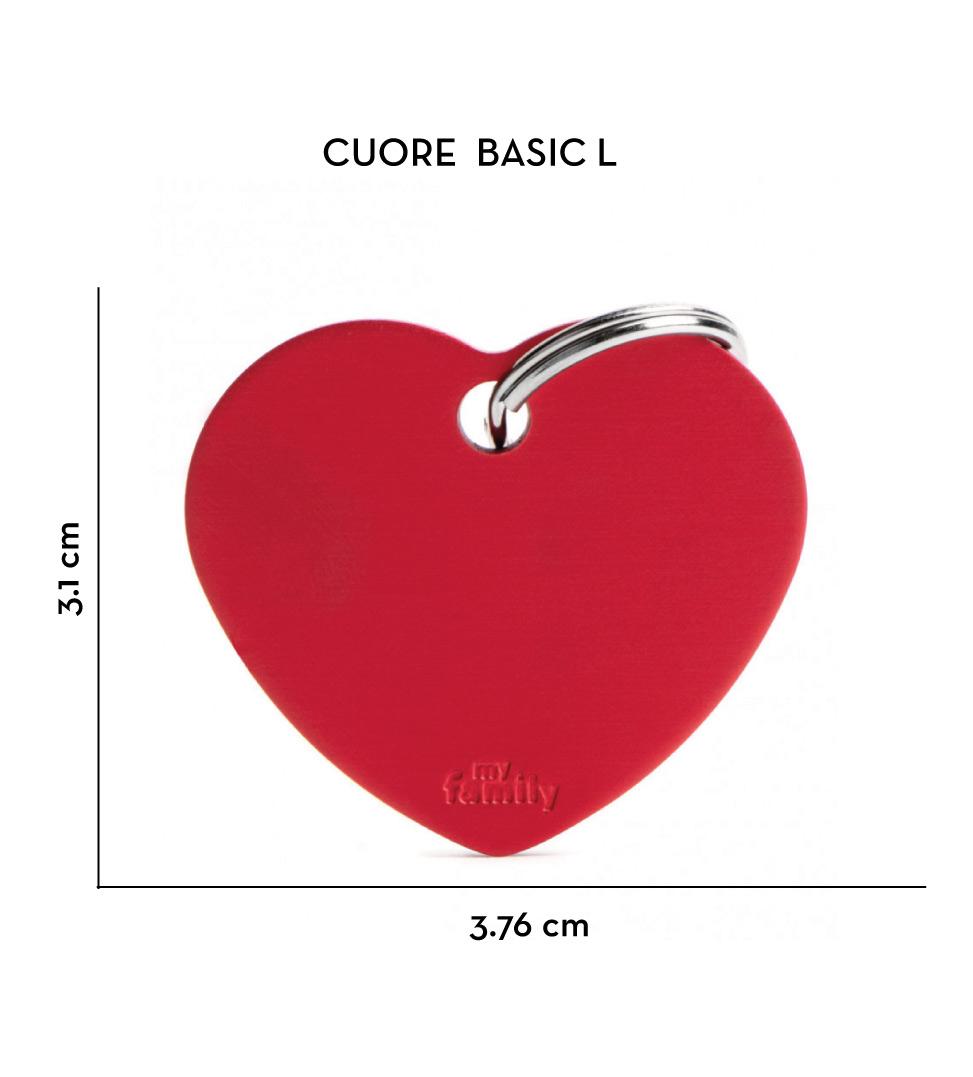 My Family - Medaglietta Alluminio Basic - con Incisione - Cuore