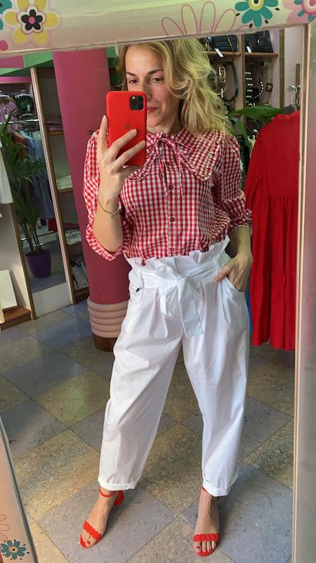 Pantalone Paperbag Popeline Vicolo 3 colori