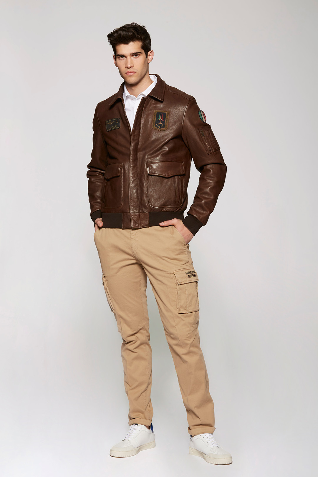 Giacca Pilot in pelle 4