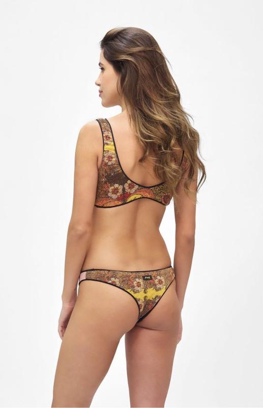 Bikini reversibile con Top e slip brasiliano fisso Summer of Love Effek