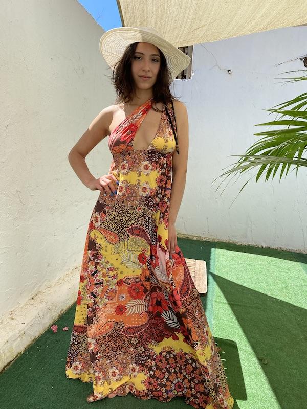 Vestito lungo Summer of Love Effek