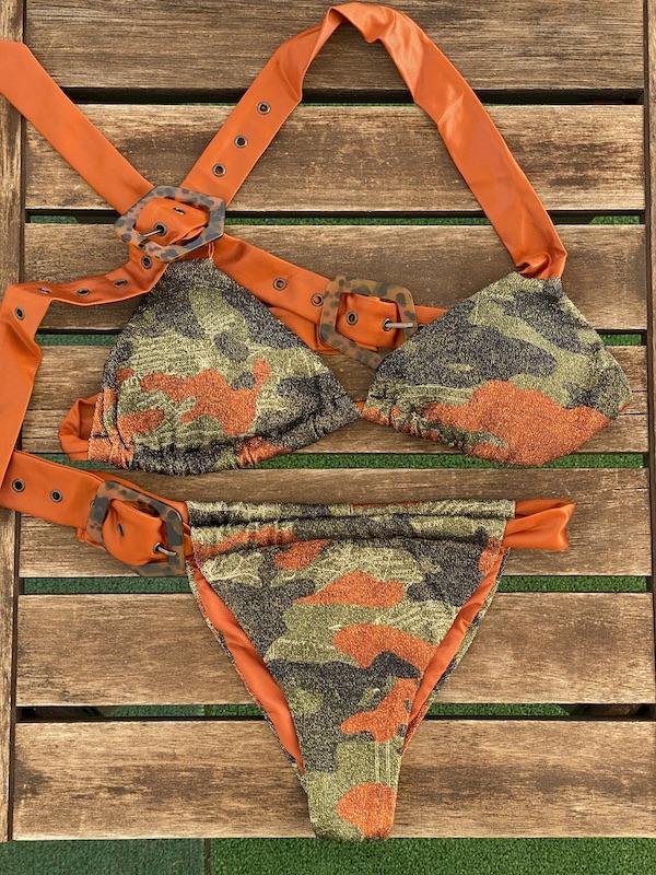 Bikini Triangolo e slip fusciacca regolabile Desert Effek