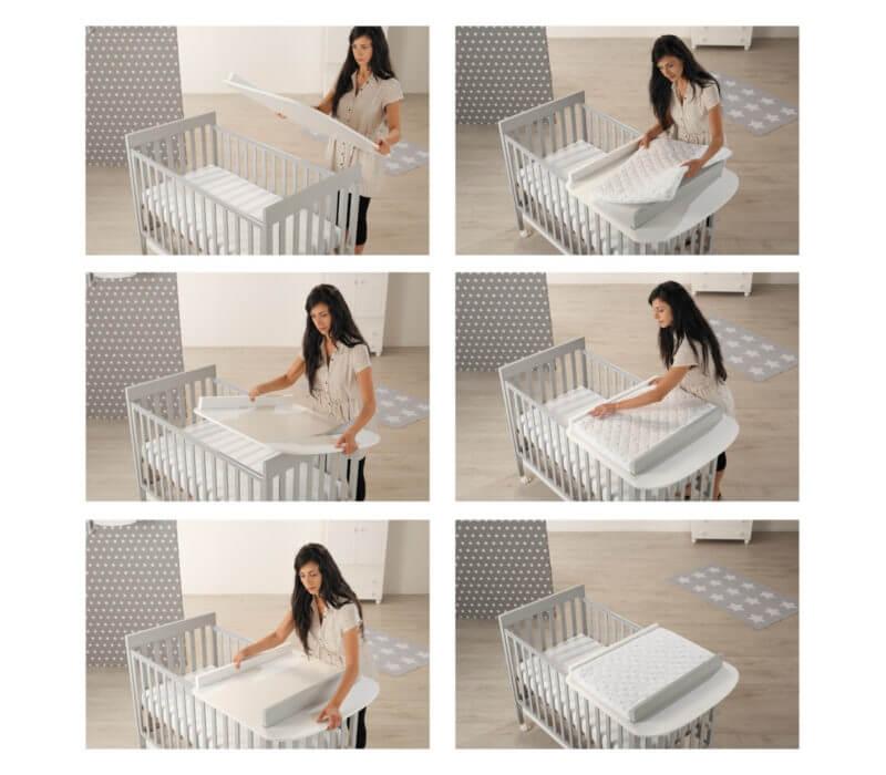Piano fasciatoio per lettino Linea Homi baby space - Azzurra Design