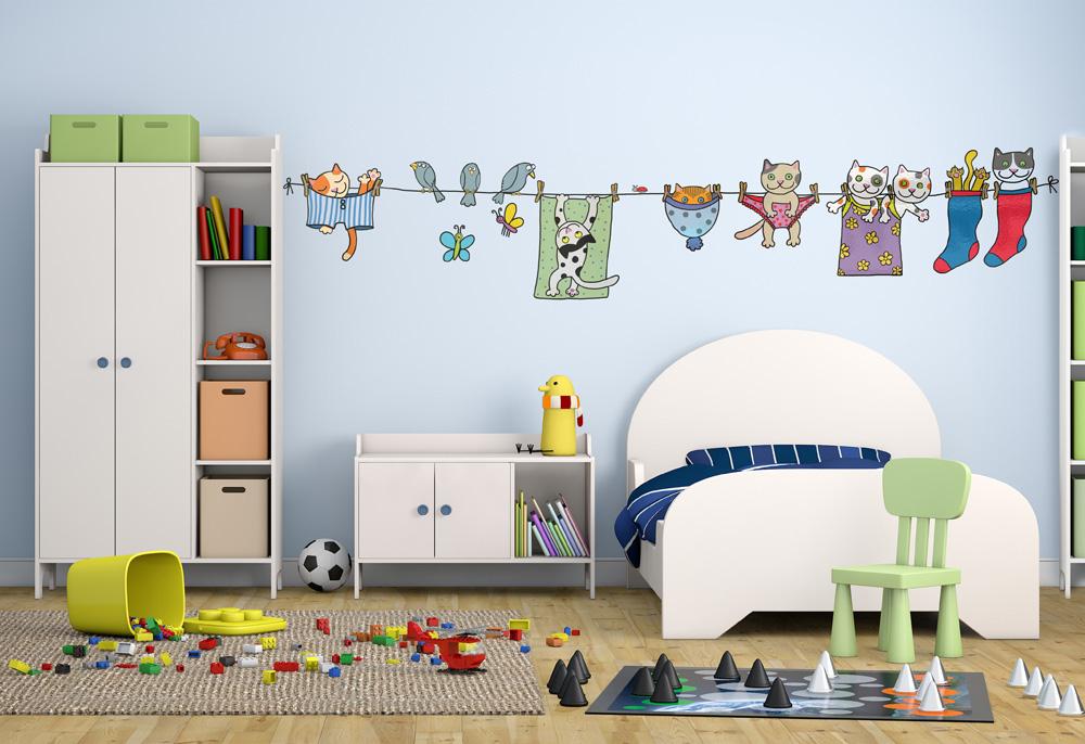 Adesivo murale I simpatici gattini by Wall skin