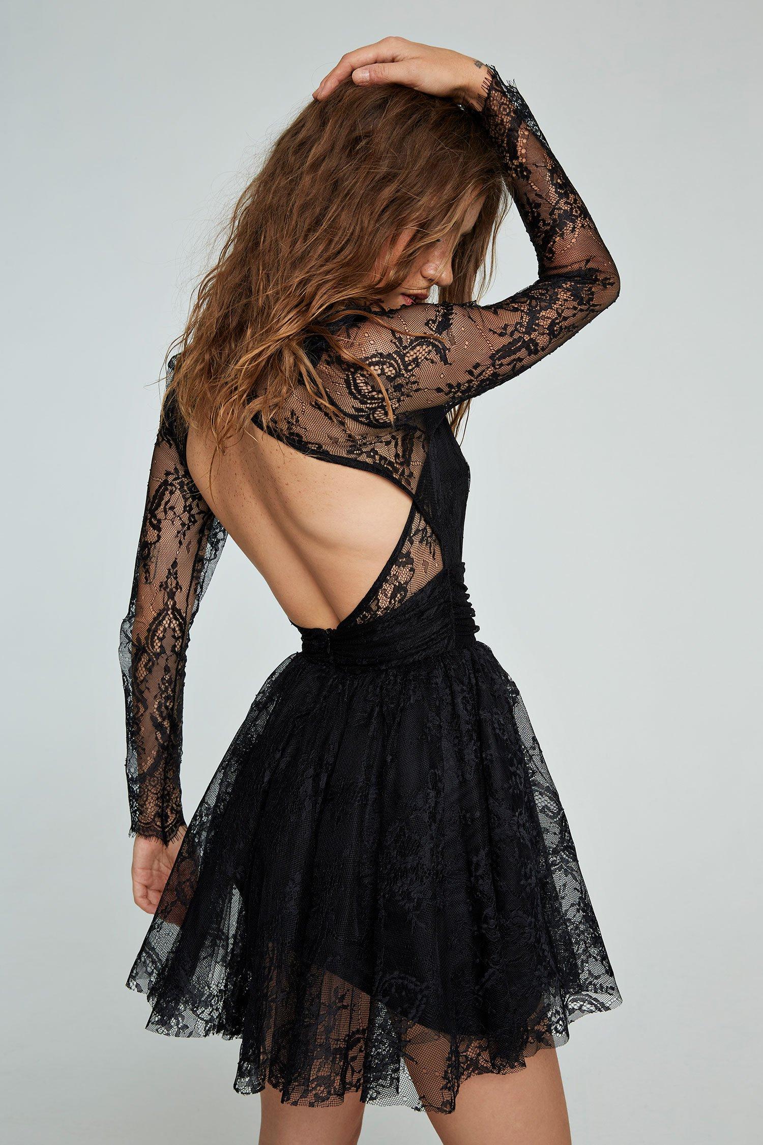Abito mini dress Tam nero Aniye By